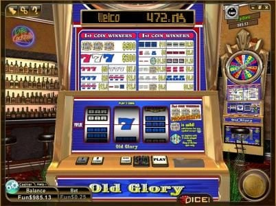 Play slots at 3Dice: 3Dice featuring the Video Slots Old Glory with a maximum payout of $10,000