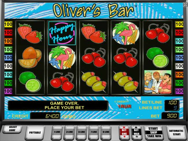 Play slots at AC Casino: AC Casino featuring the Video Slots Oliver's Bar with a maximum payout of $45,000