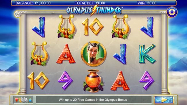 Come On featuring the Video Slots Olympus Thunder with a maximum payout of $250,000