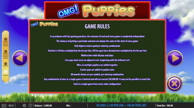 OMG! Puppies :: General Game Rules