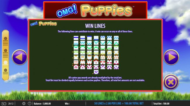 OMG! Puppies :: Paylines 1-50