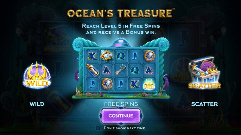 Play slots at 14 Red Casino: 14 Red Casino featuring the Video Slots Ocean's Treasure with a maximum payout of $360,000