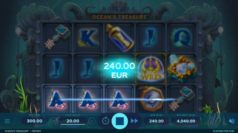 Play slots at Casumo: Casumo featuring the Video Slots Ocean's Treasure with a maximum payout of $360,000