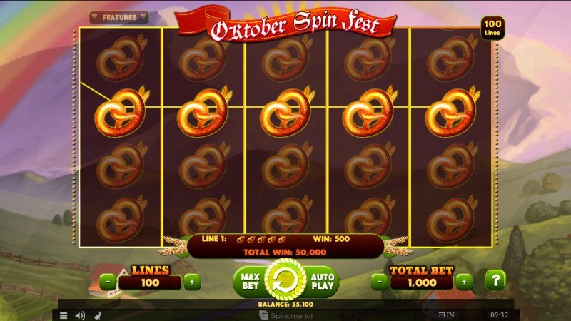 October Spin Fest :: Reel filled with the same symbol triggers an epic win