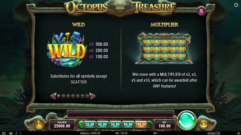 Octopus Treasure :: Wild Symbols Rules