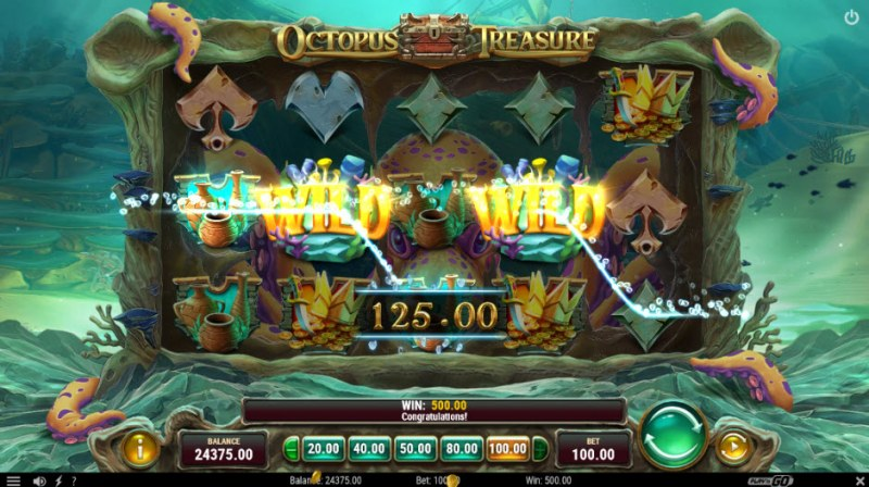 Octopus Treasure :: A four of a kind Win