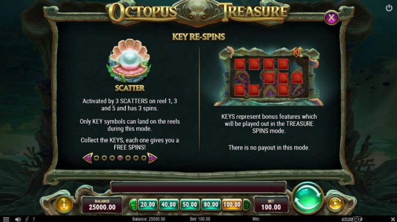 Octopus Treasure :: Free Spins Rules