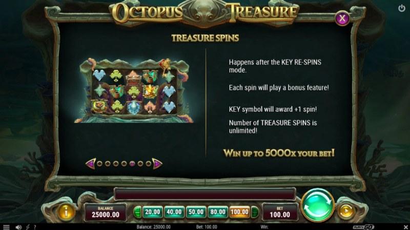 Octopus Treasure :: Treasure Spins