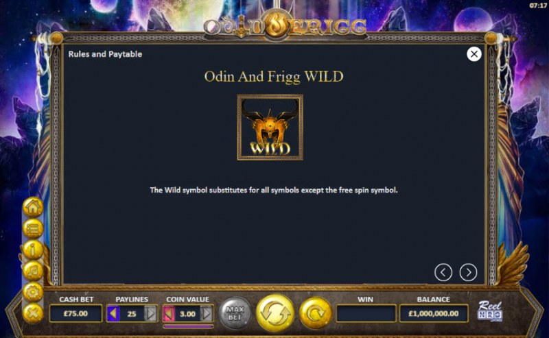 Odin and Frigg :: Wild Symbols Rules