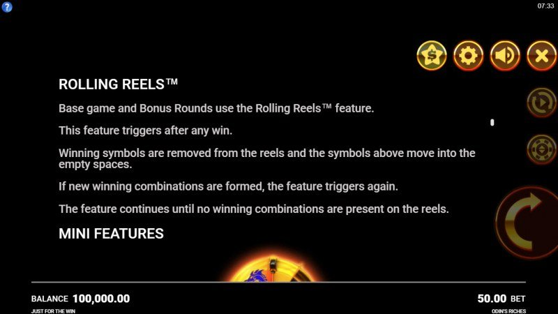 Odin's Riches :: Rolling Reels Feature