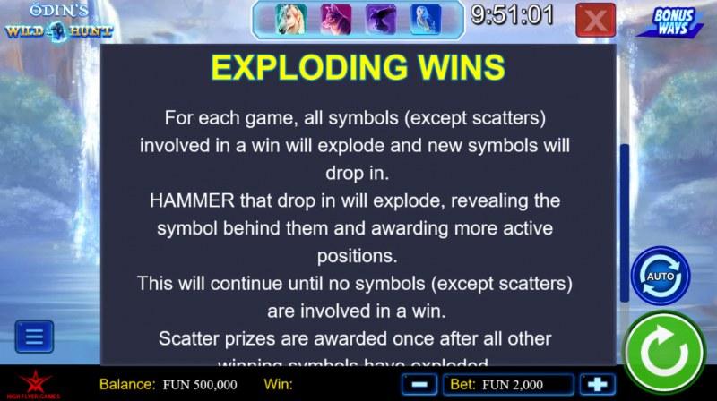 Odin's Wild Hunt Bonus Ways :: Exploding Wins