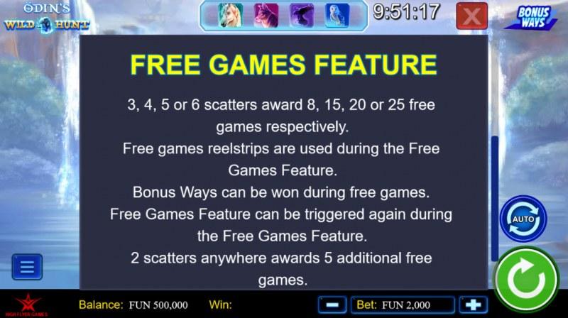 Odin's Wild Hunt Bonus Ways :: Free Spin Feature Rules