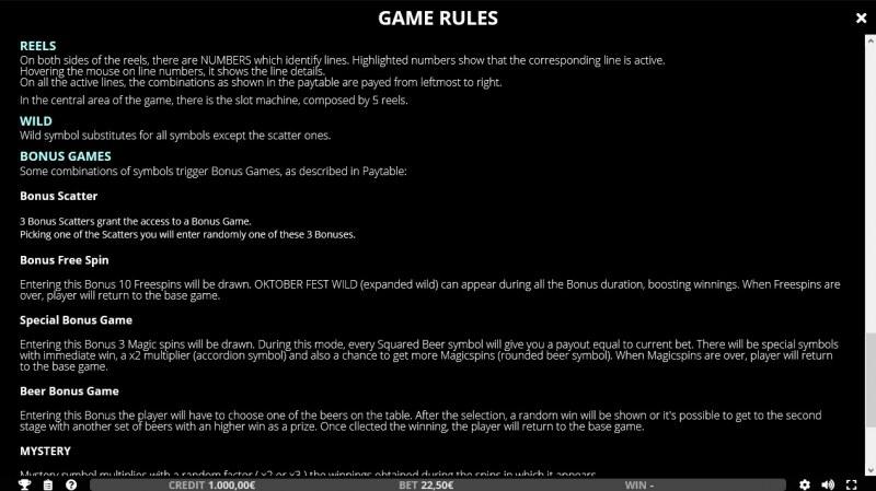 Oktoberfest :: General Game Rules