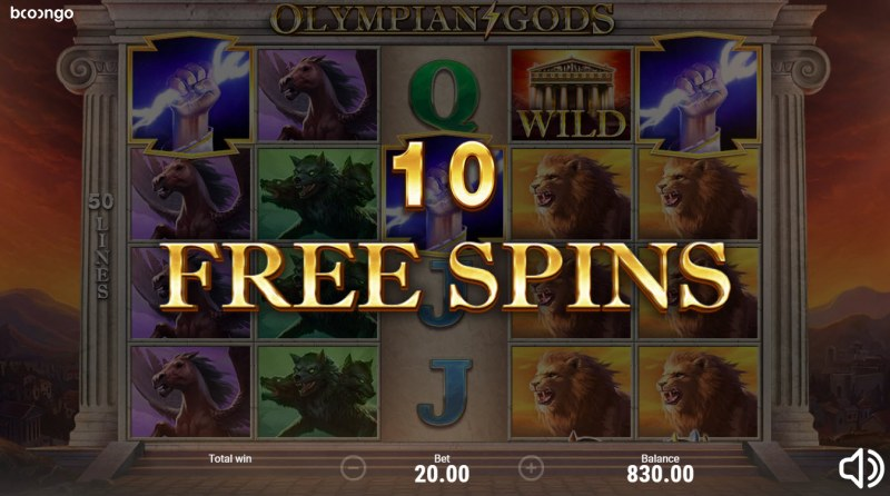 Olympian Gods :: 10 Free Spins Awarded