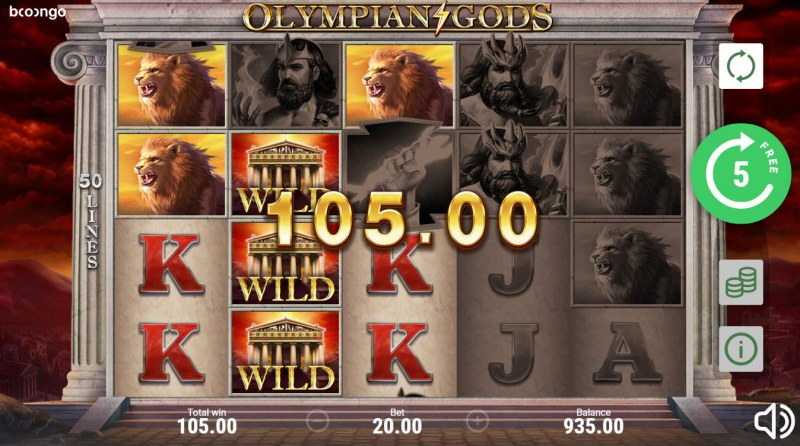 Olympian Gods :: Free Spins Game Board