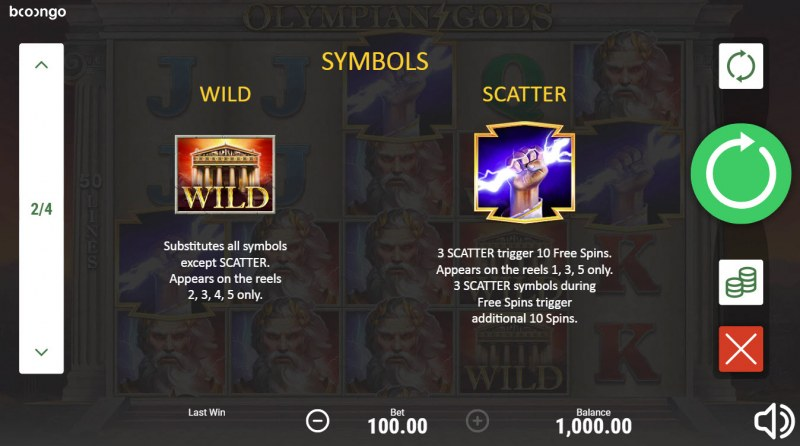 Olympian Gods :: Wild and Scatter Rules