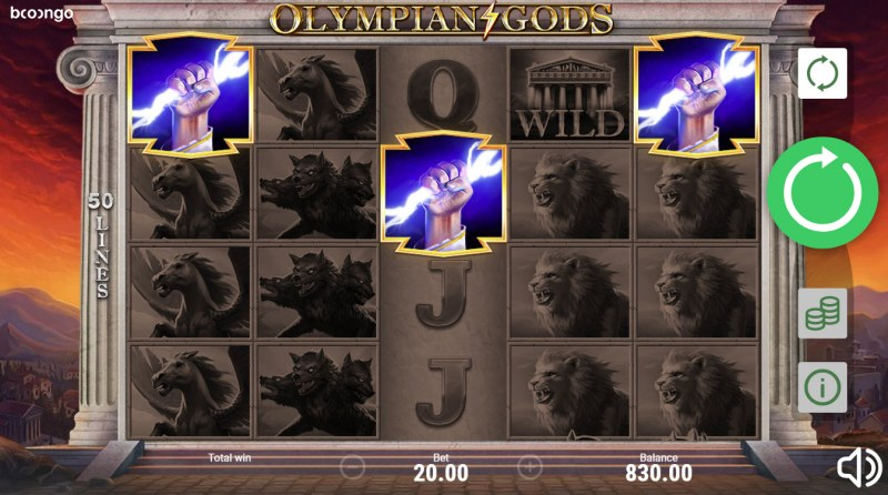 Olympian Gods :: Scatter symbols triggers the free spins feature