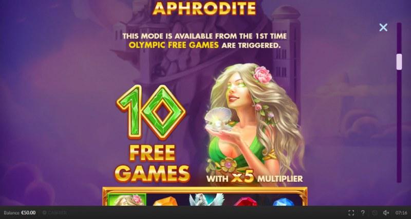 Olympic Cash :: Aphrodite Free Games