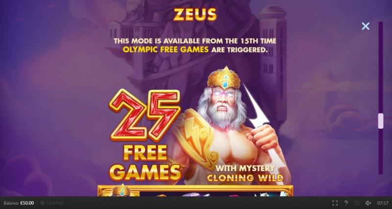 Olympic Cash :: Zeus Free Games