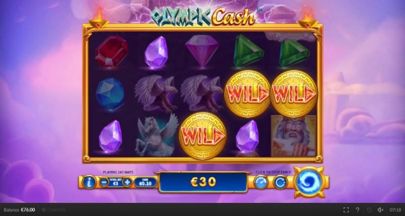 Olympic Cash :: Multiple winning combinations