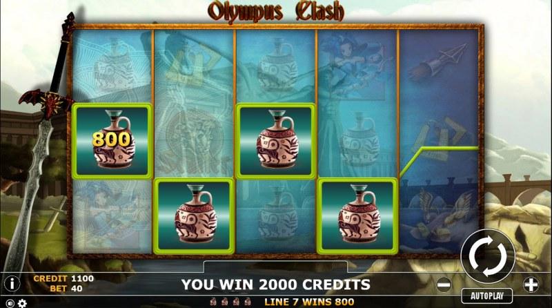 Olympus Clash :: Multiple winning paylines