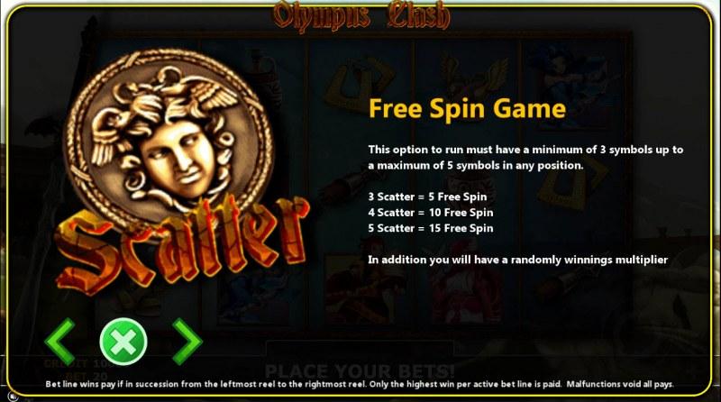 Olympus Clash :: Free Spins Rules