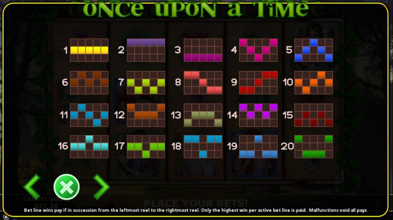 Once Upon A Time :: Paylines 1-20
