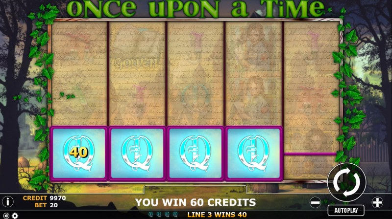 Once Upon A Time :: A four of a kind Win