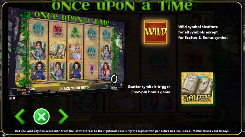 Once Upon A Time :: Wild and Scatter Rules