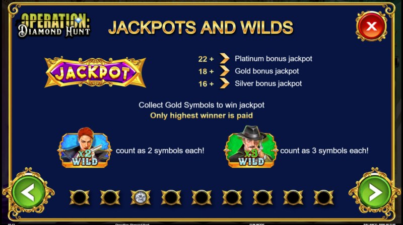 Operation Diamond Hunt :: Jackpot and Wilds