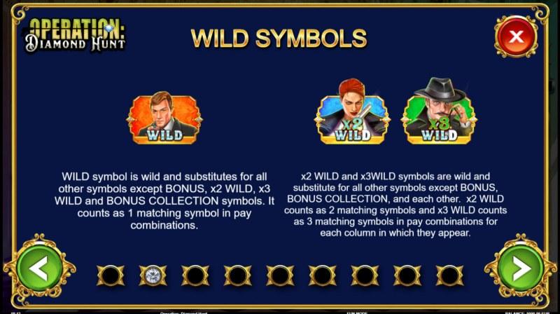 Operation Diamond Hunt :: Wild Symbols Rules