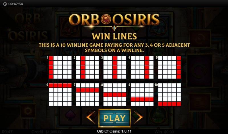 Orb of Osiris :: Win Lines