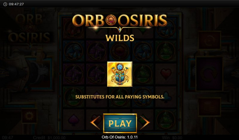 Orb of Osiris :: Wild Symbol Rules