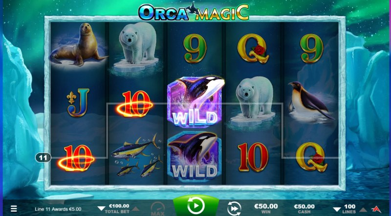 Orca Magic :: A three of a kind win