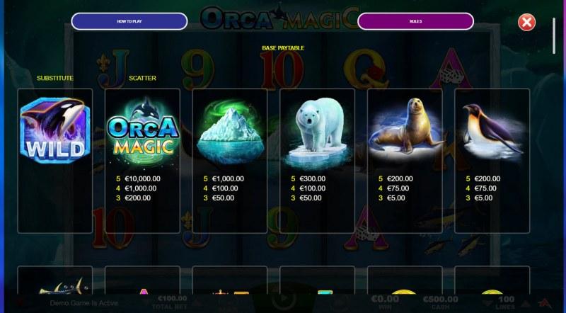 Orca Magic :: Paytable - High Value Symbols