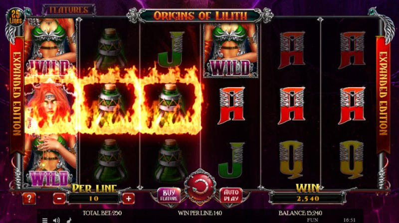 Origins of Lilith Expanded Edition :: Multiple winning paylines