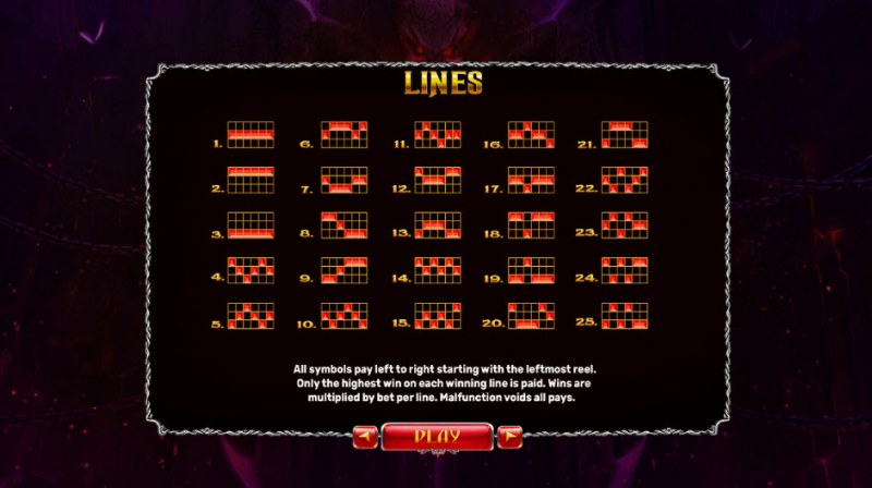 Origins of Lilith Expanded Edition :: Paylines 1-25