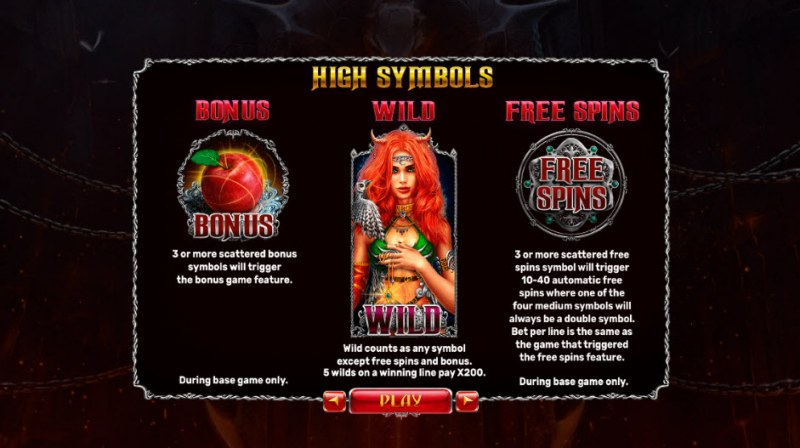 Origins of Lilith :: Paytable - High Value Symbols