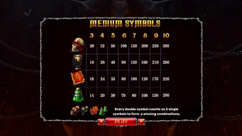 Origins of Lilith :: Paytable - Medium Value Symbols