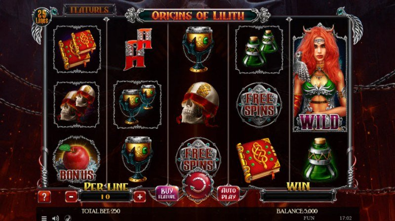 Play slots at 1X Slots: 1X Slots featuring the Video Slots Origins of Lilith with a maximum payout of $2,500,000