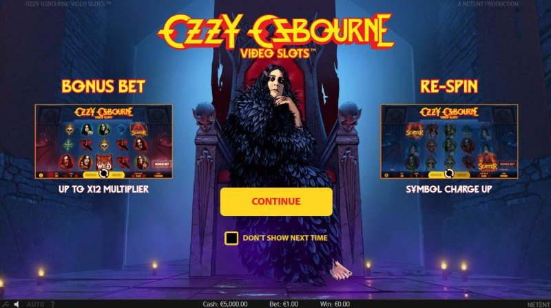 Play slots at Guru Play: Guru Play featuring the Video Slots Ozzy Osbourne with a maximum payout of $600,000