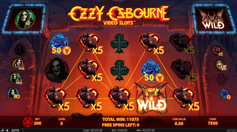 Play slots at Spinzilla: Spinzilla featuring the Video Slots Ozzy Osbourne with a maximum payout of $600,000