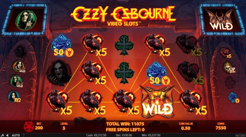 Ozzy Osbourne :: Multiple winning combinations leads to a mega win