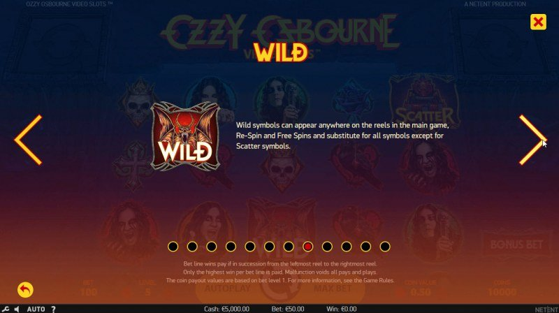 Ozzy Osbourne :: Wild Symbols Rules