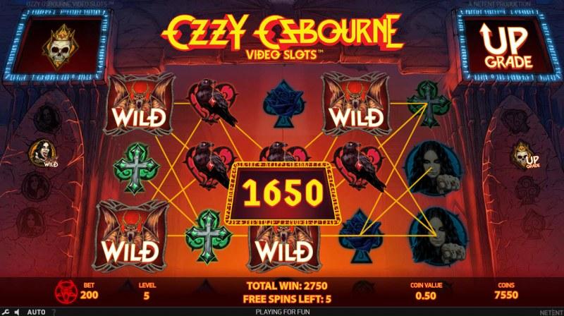 Ozzy Osbourne :: Multiple winning paylines