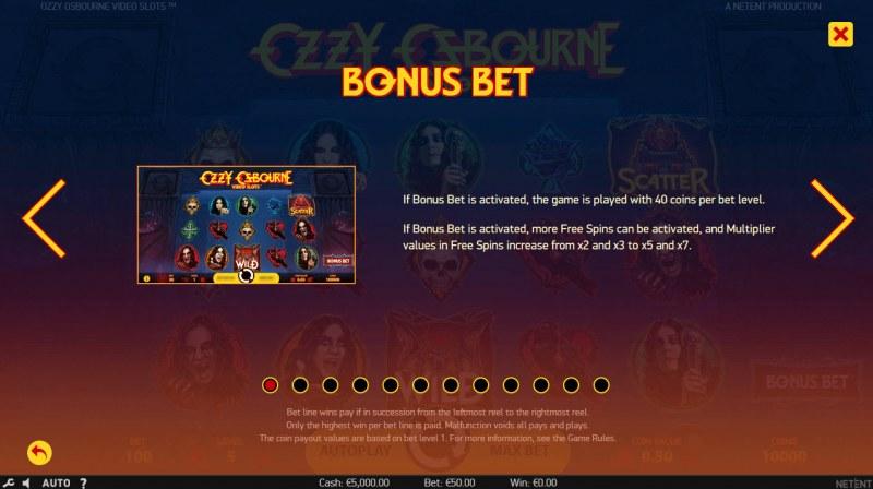 Ozzy Osbourne :: Bonus Bet