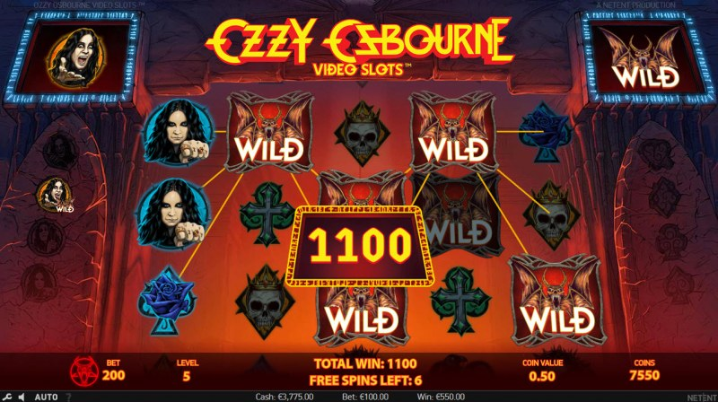 Ozzy Osbourne :: Free Spins Game Board