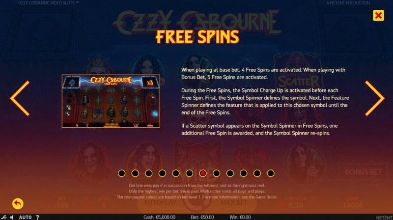 Ozzy Osbourne :: Free Spins Rules