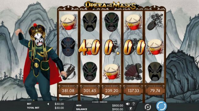 Casimba featuring the Video Slots Opera of the Masks with a maximum payout of $150,000
