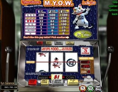 Dreams featuring the Video Slots Operation M.Y.O.W. with a maximum payout of $75,000
